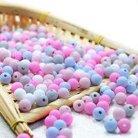 Joepada 100 pcs / lote 9mm redondo contas de silicone material de grau de comida para DIY bebê dentição colar BPA livre cuidado oral bebê téether y0123