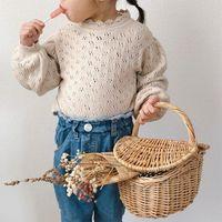 COREANA AUSTRALIA T-shirt di qualità Bambini ragazze cavo a maglia Tops Maglioni 2364 Q2