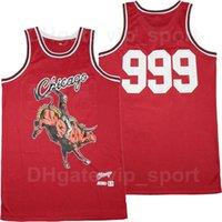 Erkekler Remix Chicago 999 Suyu Wrld X BR Basketbol Forması B / R Bleacher Rapor Doğum Günü Nakış Dikiş Saf Pamuk Nefes Spor Kırmızı Kaliteli