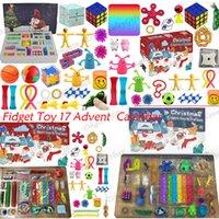 Fidget spielzeug party favor kalender weihnachten 24 stücke countdown blind mystery box sensorisch finger spielzeug glückliche boxen für kind erwachsene geschenk