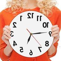 Обратное необычное число назад Современные декоративные часы Смотреть отличные часы для вашей стены NHA6038