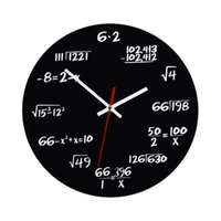 Creative Mathematics Blackboard Clock Wall Teacher Gift For Classroom Home Office (Black) Clocks