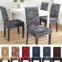 Chair Covers 1 2 4 6 Pieces Universal Size Cover Big Elastic Jacquard Fabric And Velvet Seat Case For Dining Room