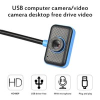 Webcams 480P HD Video Webcam Auto Focus Night Vision Computer Web Camera With Built-in Microphone USB For Online Class
