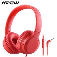 Mpow CHE2S Kids Children Wired Headphones with Microphone Hearing Protection 94 dB Volume Headset for Tablets PC Online Class