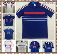 Francescoli 1982 1984 1998 2002 Retro Vintage Zidane Henry Soccer Jerseys Maillot de Foot 2000 2004 2010 Finales 1996
