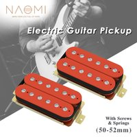 NAOMI 2pcs Open Style Humbucker Double Coil Electric Guitar Pickups 50 52mm Guitar Accessories For ST TL Style Guitar Red
