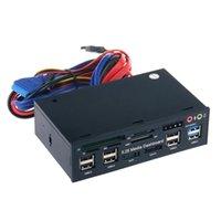 HUBS PC Media Dashboard Audio Audio с SATA ESATA 2 X USB 3.0 и 6 2.0 HUB SD TF MMC M2 CF MS Card Reader