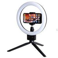 """Сотовый телефон светодиодный кольцевой свет 10W 7 """"Selfie кольца лампы 2800-5500k фотографическое освещение с штативом Moblie Phone Clamp US Стандартный OWF9550"""