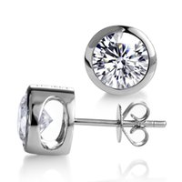CVD HPHT Lab Diamond Earrings 1ct * 2 DE VS SI1 18K 14K Gold Jewelry MS-013