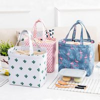 Storage Bags Cute Lunch Functional Pattern Cooler Box Portable Insulated Bag Thermal Women Kids Food Picnic Organizer