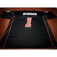 Gewohnheit 009 Jugendfrauen Vintage Ottawa Redblacks # 1 Henry Burris Football Jersey Größe S-5XL oder benutzerdefinierte Name oder Nummer Jersey