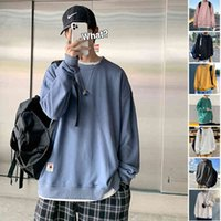 Kpop Sweatshirt Essentials Male 2021 Autumn Japanese Street Casual Loose Trendy Minimalist Jumper Couple Sports Oversized Hoodie