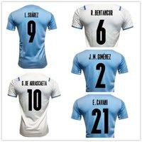 21-22 Uruguay Thai Quality Fussball Jerseys Lokal Online-Shop Yakuda Dropshipping akzeptiert L.SUÁREZ 9 DE ARRASCAETA 10 E.CAVANI 21 D.Godín 3 R.Bentancur 6 Fußballuniformen