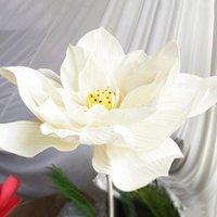 Flores artificiales Flower Head Simulación Lotus Gran espuma Falso para decoración Wedding Decorative Guirnaldas