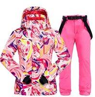Skiing Jackets Winter Ski Suit Women Windproof Waterproof Warm Padded Snowboarding Set Jacket And Snow Pants