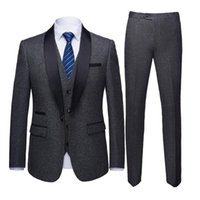 Серый адаптированные мужские пальто брюки дизайн для военно-морских синих свадебных костюмов формальный бизнес офис выпускной носить пиджаки мужские