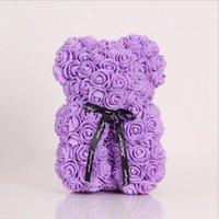 Nuovo regalo di San Valentino Regalo PE Rose Bear Toys Pieno pieno di amore 25cm Teddy orsacchiotti bambola carino fidanzata bambini presente HHC6983
