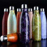 Garrafas de água isolamento de vácuo caneca de copo esportes 304 aço inoxidável cola bowling forma canecas copos de cozinha 500ml gwb10472