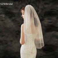 Bridal Veils White Ivory Beaded Wedding Bride Mariage Headwear Accessories Matrimonio Voile Mariee