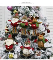 زينة عيد الميلاد كبار السن ثلج الأيائل كريستما هدية قلادة صغيرة أفخم دمية شجرة عيد الميلاد لوازم