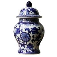 Jingdezhen Porzellan Handgemalte blaue und weiß Porzellan ALLGEMEINE TANK NEUE Chinesischer Dekoration Klassische Heimstudie Dekoration 210409
