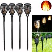 96 LED wasserdichte flackernde Flamme Solar Fackel Licht Gartenlampe Outdoor Landschaft Dekoration Garten Rasenlicht