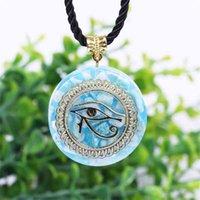 Horus Auge All-Sehen Augen Orgonite Energy Anhänger ORGONE ITE Halskette Devil's Augen Halskette Amulett Magnetische Schmuck 210331