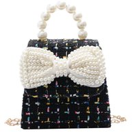 Purse Cute Children's Mini Clutch Bag Sweet Kids Girls Princess Crossbody Little Girl Small Party Pearl Purses Gift