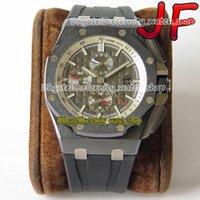 Eternity Cronwatch Relógios JFF V2 Upgrade Versão 26405 Cerâmica Bezel Cal.3126 JF3126 Cronógrafo Automático 26400 Mens Assista Sapphire Strap Strap Sport 01002001