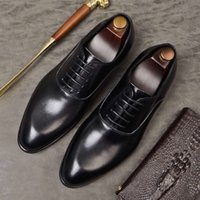 Casual shoes MVPW Wedding Mens Formal Genuine Oxford For Men Italian 2020 Dress Laces Leather Business Shoes 869 V1D6