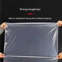PE Flat Storages Bag Large Capacity Home Furnishing Factory Transparent Lage Clothes Drawstring Closet Plastic Storage Bags