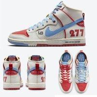 ISHOD WAIR X Magnus Walker Pro 277 SB Dunk Koşu Ayakkabıları Yüksek Eğitmenler Paten Sneaker Beyaz Mavi Kırmızı DH7683-100 Yelken Kentsel Outlaw Rahat Sneakers 36-45