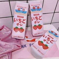 Caneta saco criativo sul coreia engraçado papelaria cute caixa de armazenamento de morango menina lápis de lápis MUQ7