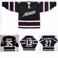 2016 New Anaheim Duck Jersey coutumé coutume avec n'importe quel numéro N'importe quel nom Nom Cousez sur Mighty Ducks 35 SELANNE 13 JERSEYS DE HOCKEY ICE GIGUERE