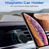 L-Type Aluminum alloy Air Vent Magnetic Holder Car Mount Dashboard Mount Stand Phone Holder for Smartphones car phone holders