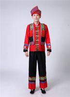 Factory Miao Guangxi мужская Чжуанг Yi танцевальный костюм меньшинства Hulusi Performance Costume1FH3