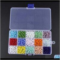 750pcsbox 6mm Vetro per gioielli Fare sfaccettato Rondelle Crystal Distanziatore Perline Assortimenti Forniture Accessori U7fog Gwuzk