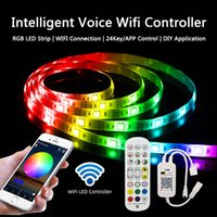 16.4 32.8 50 66ft LED Strip Light with 5050RGB LEDs Lights 5 10 15 20m Safe Epoxy Strips WIFI Voice Bluthtooth Smart Phone APP Controller Decorative Indoor Lighting Set