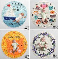 Baby Milestone Couverture Infant Photography Fond Couvertures Photographiques Spects Lettres Fleur Animaux Photographie Photographie Couverture de Fleece GGA3635