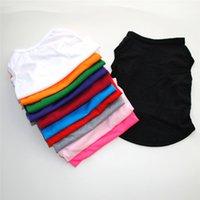 개 의류 애완 동물 여름 티셔츠 솔리드 컬러 작은 개를위한 솔리드 컬러 조끼 얇은 통기성 outwear GWB6102