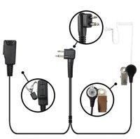 Walkie Talkie Fone de ouvido Fone de ouvido Peça de ouvido Mic para Motorola 2-Pin CLS1110 CP200 CLS1410 RÁDIO