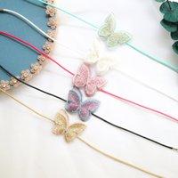 Nova jóias primavera e verão acessório super falha cor bordado borboleta gargantilha colar curto clavícula colar de corrente