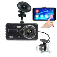 "Full HD 1080P 4"" IPS Vehicle Camera Front+Rear Night Vision G-sensor Recorder Car DVR Dash Cam Video Dual Lens DVRs"