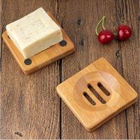 Pratos de madeira de bambu natural pratos de armazenamento placa de armazenamento placa de recipiente portátil prato de banheiro portátil