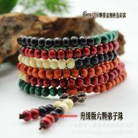 Bracelet The origin price of Xianyou beads: Sandalwood multicolored 216 rosary beads Tibetan Buddhist