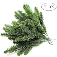Christmas Decorations 30pcs Artificial Pine Branches Green Leaves Needle Garland Home Garden Embellishing Plants Needles
