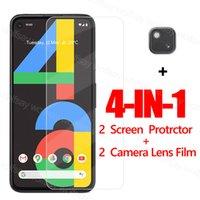 Полное клеевое стекло для Google Pixel 4a Protector 5 Закаленный защитный телефонный фильм 5 5G