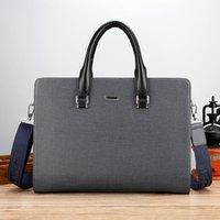 Briefcases Men's Bag 2021 Korean Style PVC Wear-Resistant Shoulder Crossbody Factory Wholesale Handbag