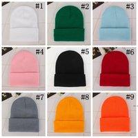 حزب القبعات الكلاسيكية رجل السيدات إمرأة ترهل المعتاد قبعة الجمجمة قبعة عشاق kintted كاب الصلبة قبعات 23 ألوان HWE5570